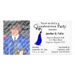 Blue Graduation Party Photo Invitation