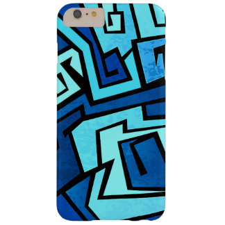 Blue graffiti design barely there iPhone 6 plus case