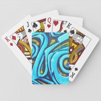 Blue Graffiti Street Art Abstract Poker Deck