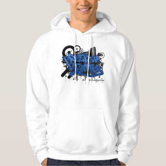 Blue Graffitti Freedom Fighter Hoodie
