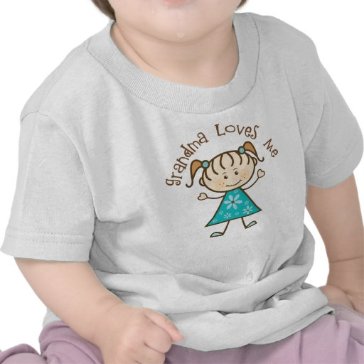 Blue Grandma Loves Me Tee Shirts