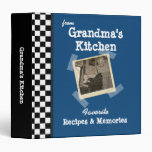 "Blue Grandmas Kitchen 1.5"" Custom Photo Recipe Binders"