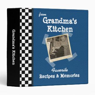 "Blue Grandmas Kitchen 1.5"" Custom Photo Recipe Binders"