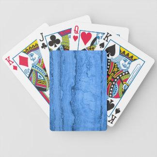 Blue granite bicycle playing cards