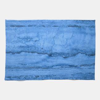 Blue granite hand towel