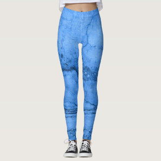 Blue granite leggings