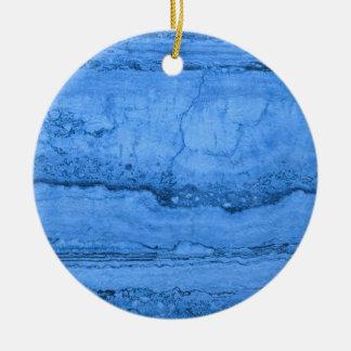 Blue granite round ceramic ornament