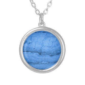 Blue granite silver plated necklace