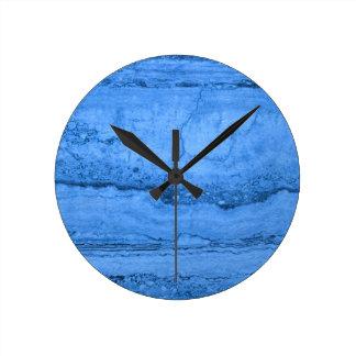 Blue granite wallclock