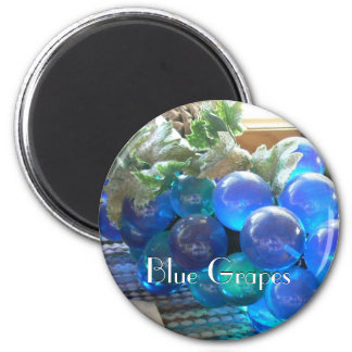 Blue Grapes 2 2 Inch Round Magnet