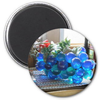 Blue Grapes 2 Inch Round Magnet