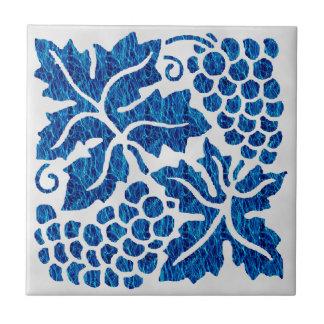 Blue Grapes Tile