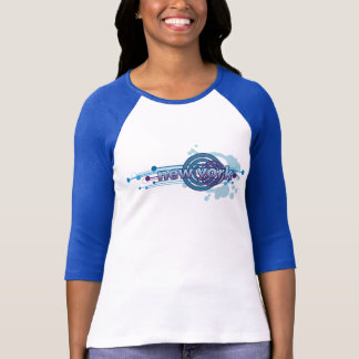 Blue Graphic Circle New York T-Shirt Jersey