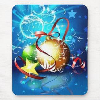 Blue graphics for Christmas - Tapis De Souris