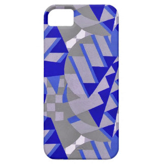 Blue / gray 1920s Art Deco design tie iPhone 5 Covers