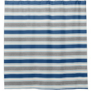 Blue, Gray And White Striped