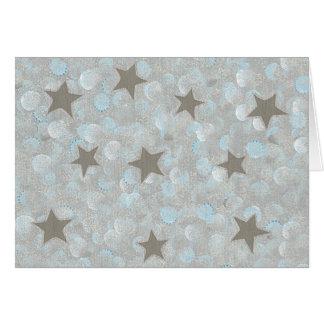 Blue Gray Bubbles & Silver Stars Cards