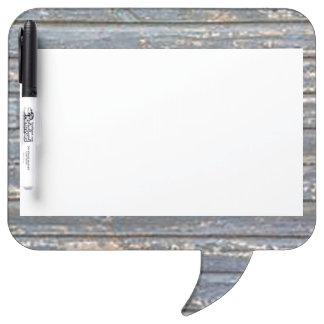 Blue Gray Clapboard Dry Erase Board