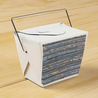 Blue Gray Clapboard Favor Box