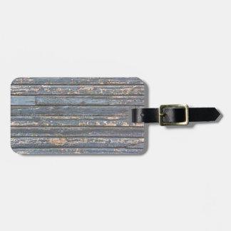 Blue Gray Clapboard Luggage Tag