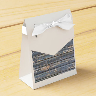 Blue Gray Clapboard Wedding Favor Boxes