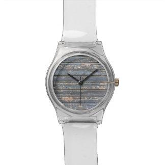 Blue Gray Clapboard Wristwatches