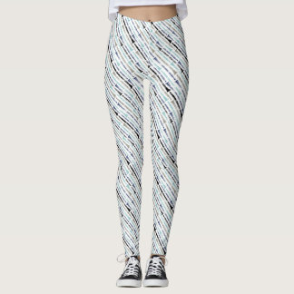 Blue Gray Clarinet Leggings