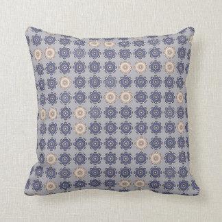 "Blue gray decorative cushion, 2 faces, ""MILADY "" Throw Pillow"