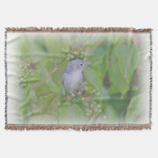Blue-Gray Gnatcatcher Throw Blanket