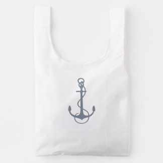 Blue-Gray Nautical Boat Anchor Illustration 2
