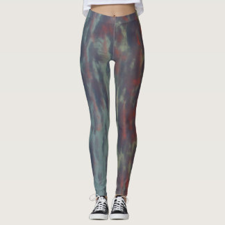 Blue Gray Pink Red-Orange Clouds Sunset 2 Leggings