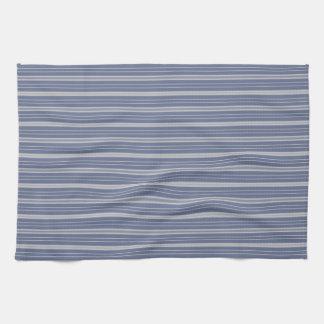 Blue Gray Stripes Kitchen Towel