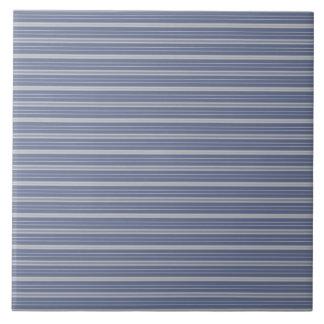 Blue Gray Stripes Tile