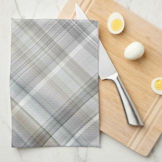 Blue/Gray/Tan Plaid Kitchen Towel