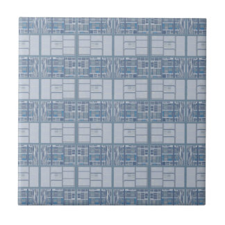 Blue Gray Textured Stripe Tile