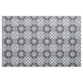 Blue Gray Violet Floral Bali Batik Pattern Fabric