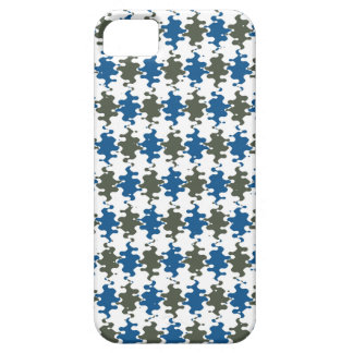 Blue Gray Wave Mosaic Pattern iPhone 5 Cases