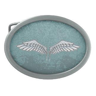 Blue-gray wings belt buckles
