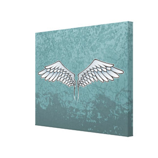 Blue-gray wings canvas print