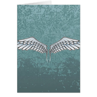 Blue-gray wings card