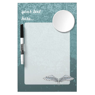 Blue-gray wings Dry-Erase whiteboard