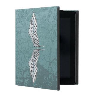 Blue-gray wings iPad folio cover