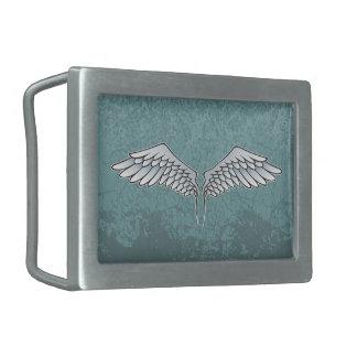 Blue-gray wings rectangular belt buckles