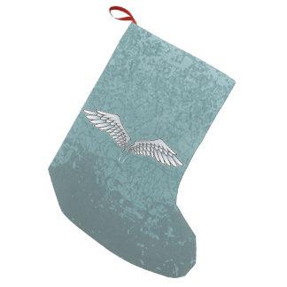 Blue-gray wings small christmas stocking