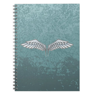 Blue-gray wings spiral notebook