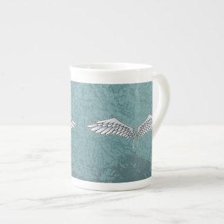 Blue-gray wings tea cup