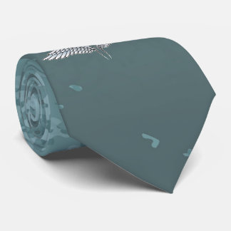 Blue-gray wings tie