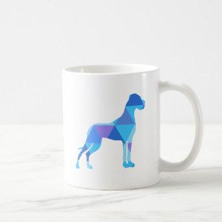 Blue Great Dane Triangulus Coffee Mug
