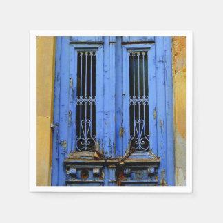 Blue greek door napkins. paper napkin