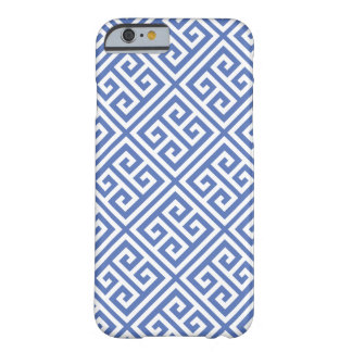 Blue Greek Key Pattern Barely There iPhone 6 Case